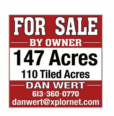 147 acres of total acres  110 tilled and working farm Cash crop Corn & Soybeans