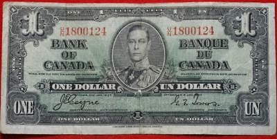 1937 Canada $1 Circulated Note