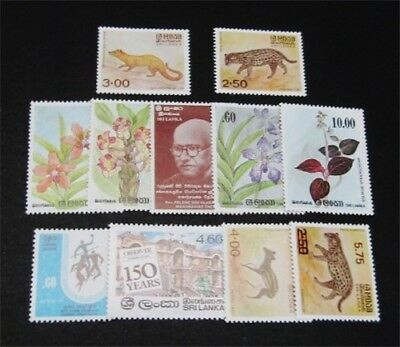 nystamps British Ceylon Sri Lanka Stamp # 697//733 Mint OG NH $34
