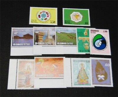 nystamps British Ceylon Sri Lanka Stamp # 765//775 Mint OG NH $34