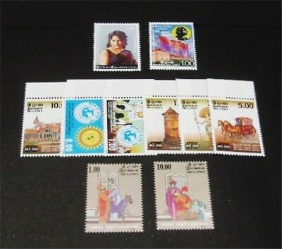 nystamps British Ceylon Sri Lanka Stamp # 981-990 Mint OG NH $33