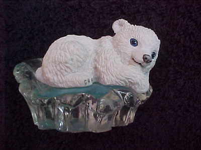 Polar Playmates bear figurine Look Who's Nappin' by Michael Adams 1996