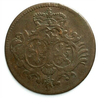 1754 Sayn-Altenkirchen 1/4 Stuber - XF - KM#35 German States Copper