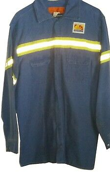 Men's used Work Shirts NGDS Royal Blue 100% Cotton  PPE  A.J. Charnaud & Co