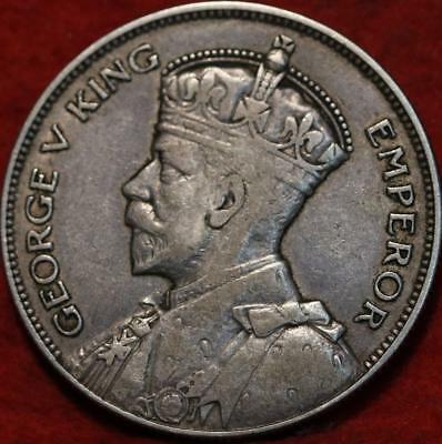 1933 New Zealand 1/2 Crown Silver Foreign Coin