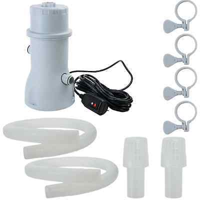 530 Gallon Above Ground Swimming Pool Filter Pump - White