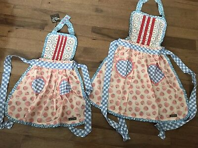 NWT MATILDA JANE HEARTS AND CRAFTS MOMMY & ME APRON SET LOT In Bag Valentines