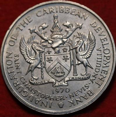 "Uncirculated 1970 Antigua 4 Dollars ""Food For Mankind"" Clad Foreign Coin"