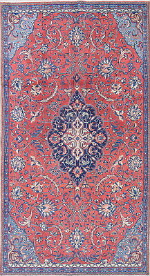Top Deal One-of-a-Kind Floral Coral Mahal Persian Hand-Knotted 5x9 Wool Area Rug