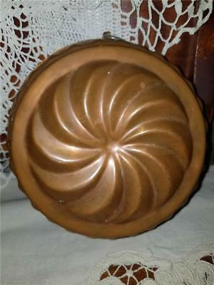Antique Vintage Tin Lined WAGNER West Germany Copper Cake Bread Pinwheel 6 3/4""
