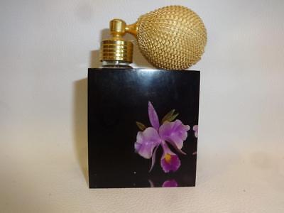 Vintage Harbud Lucite Orchid Flower Perfume Atomizer Bottle