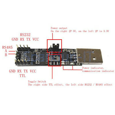 5V 3.3V 3in1 Serial Converter Board USB To RS485 RS232 TTL Serial Module CP2102
