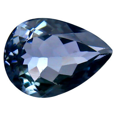 1.06 ct Significant Pear Shape (8 x 6 mm) Bluish Violet Tanzanite Genuine Stone