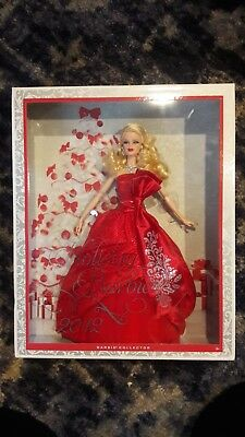 Collector Holiday 2012 Barbie Doll Blonde with red dress