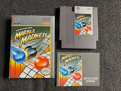 Marble Madness - Nintendo Nes - Complete W/manual - Free S/h (N9)
