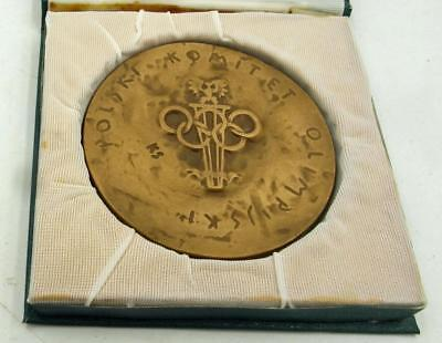 1984 Polish Olympic Committee Medal In Box