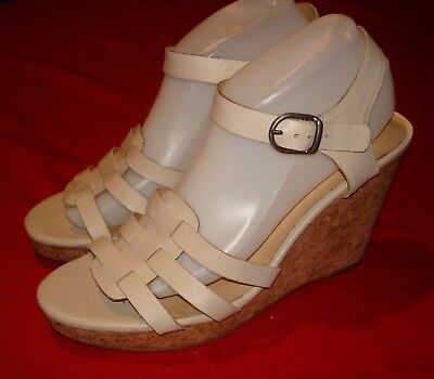 e49bc61fabe9 Womens LUCKY BRAND Beige Strappy Wedge Heel Sandal Shoes ~ Willows ~ Sz 10 M