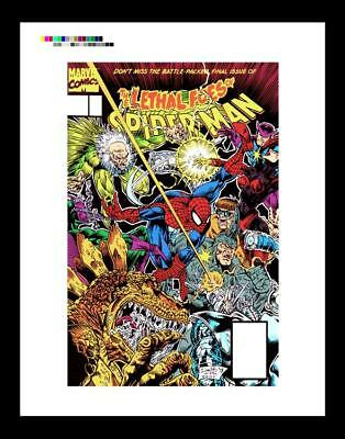David Boller Lethal Foes of Spider-Man #4 Rare Production Art Cover