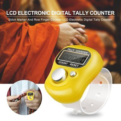 Stitch Marker And Row Finger Counter LCD Electronic Digital Tally Counter PA