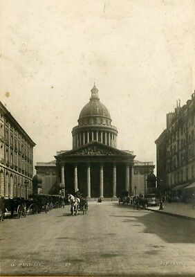 Pantheon Paris Attelage cheval Horse Team cocher Coachman S.I.P Photo CC 1900