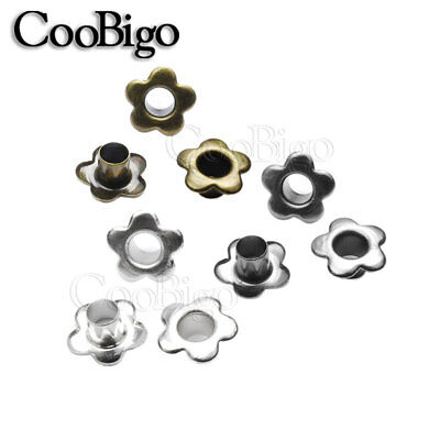 200X Metal Eyelets Hole 5mm Leathercraft DIY Shoes Boots Belt Bag Tags Sewing