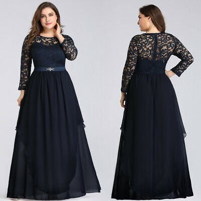 85f63324d62 Ever-pretty Plus Size Long Cocktail Gowns Mother Of Bride Evening Dresses  07716