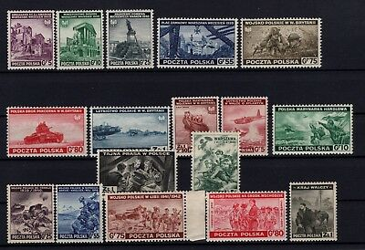 P106015/ Pologne / Poland / Exiled Stamps / Y&t # 1 / 16 - 21 Mnh Complete