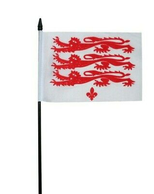 "Cambridgeshire Red County Small Hand Waving Flag 6/"" x 4/"""