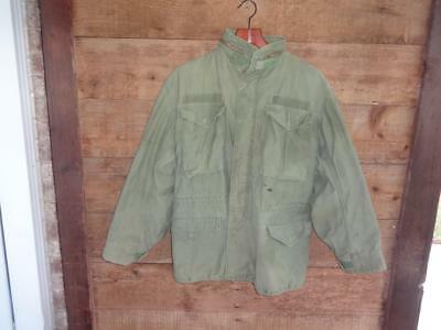 Authentic Us Military Post Vietnam Era Field Jacket Coat Size Small Regular