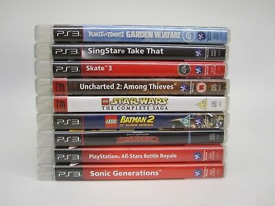 Job Lot - Sony Playstation PS3 Games x9 (Lego, Sonic, Uncharted etc.)