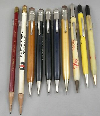 Lot Of 10 Vintage Oversize Mechanical Pencils - 1930's-40's - All Work Well