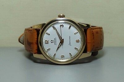 Vintage Omega Seamaster Automatic Steel Gold SWISS Mens WRIST WATCH R132