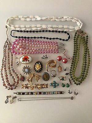 Job Lot / Collection Vintage Jewellery Sterling Silver