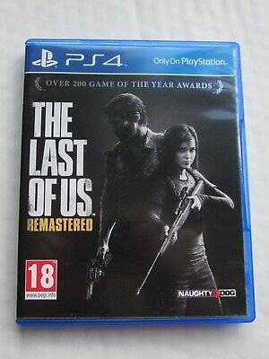 The Last Of Us Remastered * Playstation 4 / Ps4 Game * Vgc * Pal *