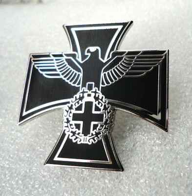 C1 Maltese Cross Iron Cross Pin Badge German Gothic Federal Eagle Cross