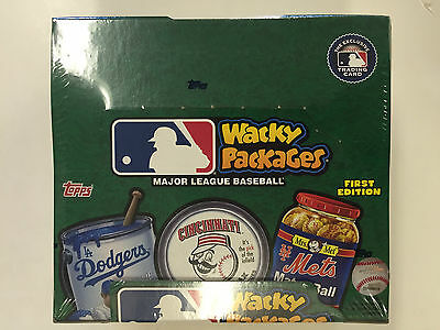 2016 Topps  First Edition Wacky Packages Baseball Retail Box