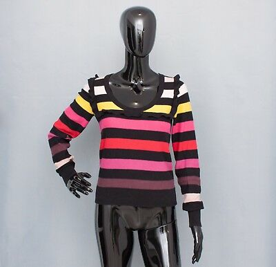 5380d6bc764 SONIA RYKIEL Pour H&M Ladies Striped Ruffle Jumper Sweater Top Size S