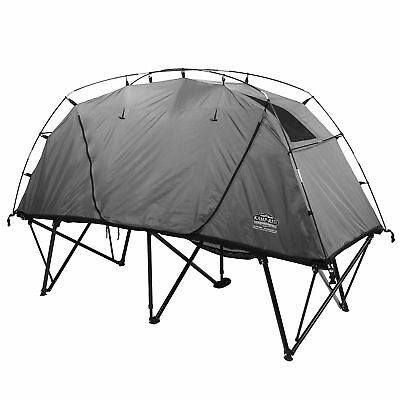 Kamp Rite CTC XL Compact Light Collapsible Backpacking Camping Tent Cot, Gray