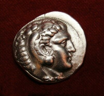 Alexander the Great Tetradrachm.Sidon mint.17.3 g.Exceptional Ancient Greek coin