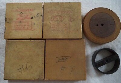(5) Used Code Machine Practice Tape & Reel for Learning the Continental Code
