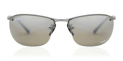RAY-BAN RB3542 029 5J Gunmetal Silver Mirror Polarized Sunglasses ... 98c1d72f4725