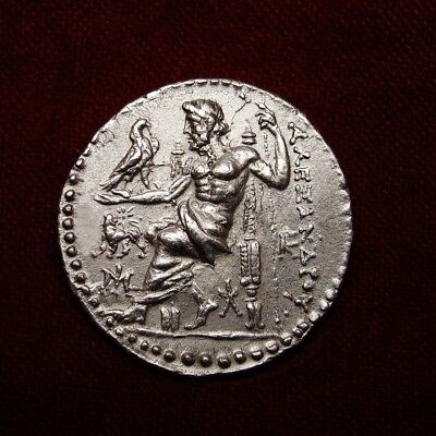 Alexander the Great Tetradrachm.MS/AU .Masterpiece. Fine style superb dies.RARE