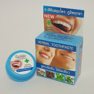 Prim Perfect Herbal Toothpaste Reduce Cigarette stains Coffee Tea Bad Breath