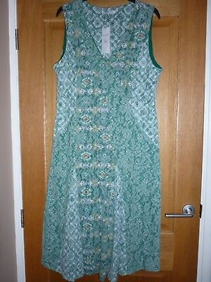 64bd6a65f9 Bnwt M s Lined Pull On Sleeveless Jersey Burnout Dress.mint Mix Size 20 £45