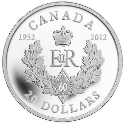 Royal Cypher - 2012 Canada $20 Fine Silver Coin - Queen's Diamond Jubilee