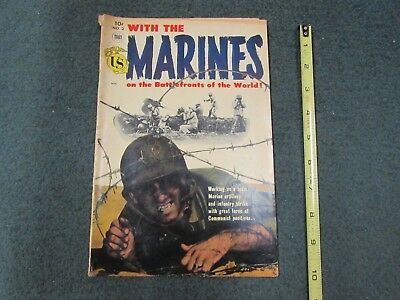 WITH THE MARINES, Toby Press War Comic #2,  March, 1954, Golden Age