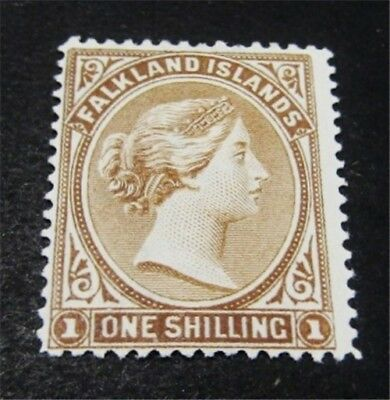 nystamps British Falkland Islands Stamp # 18 Mint OG H $75