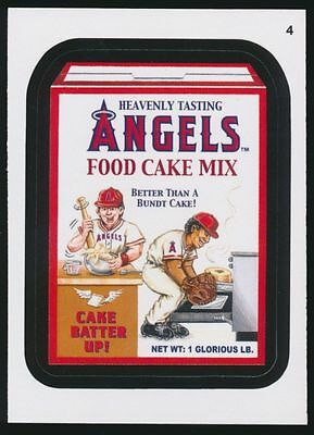 2016 Topps Wacky Packages Mlb - Los Angeles Angels Food Cake Mix - Sticker #4