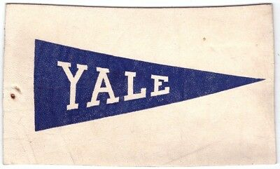 Yale University Pennant Leather Postcard vintage Post Card L