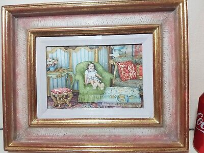Rare Isabelle Rey Interior watercolour painting Sothebys Auctions listed artist